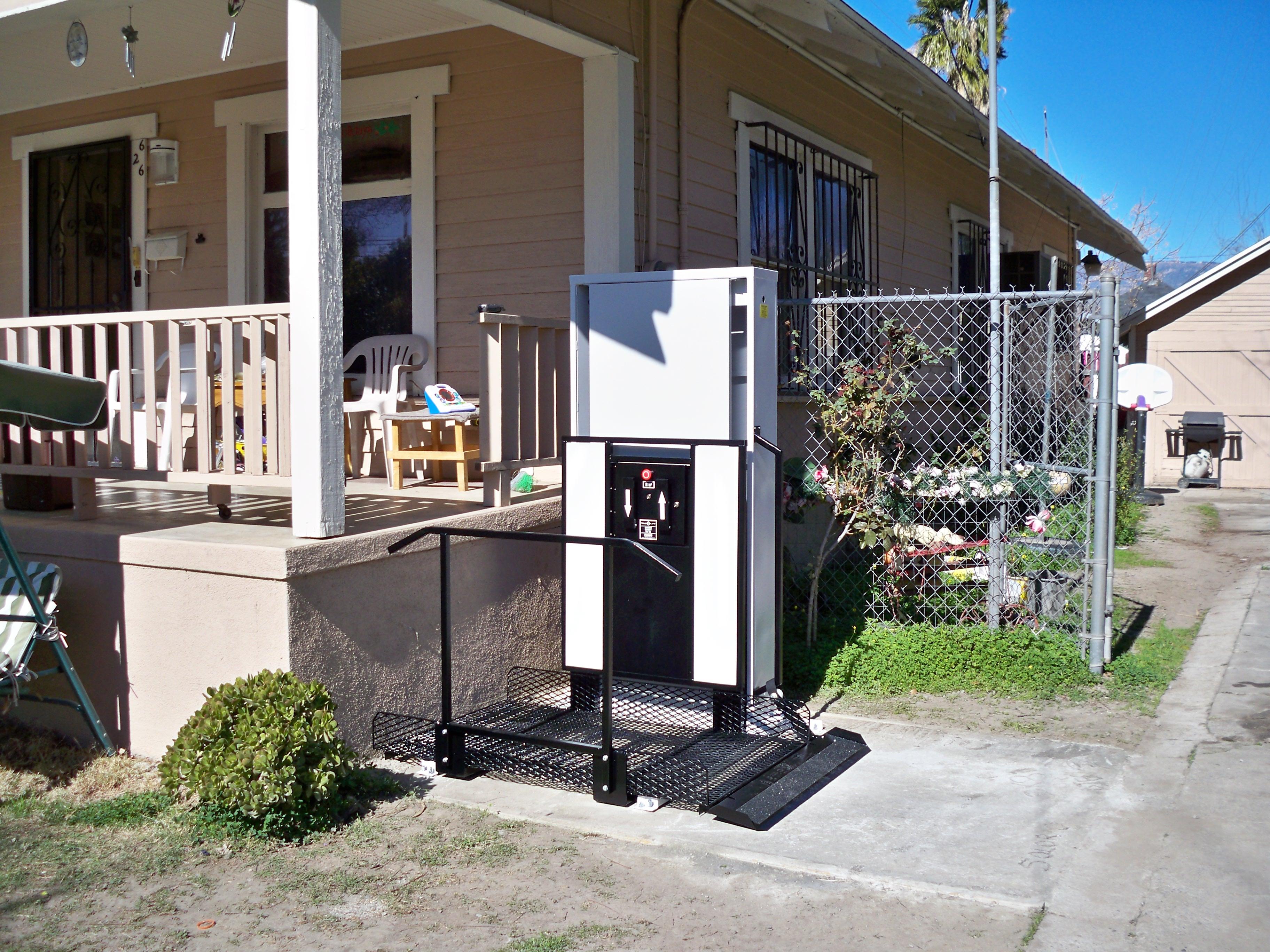 ada vpl home pl porch lift mac pin aka model vertical s
